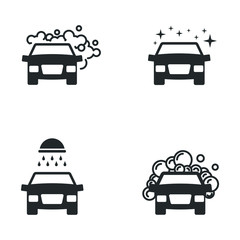 Papiers peints Cartoon voitures car wash icon template color editable. clean car wash symbol vector sign isolated on white background illustration for graphic and web design.