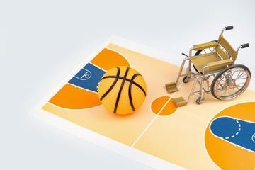 車椅子バスケットボールイメージ