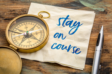 Stay on course reminder