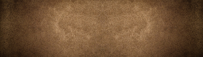 Brown dark rustic leather texture - Background banner panorama long