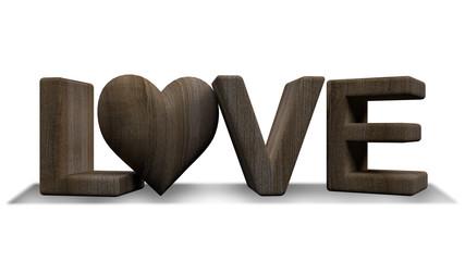 """3d rendering image of """" LOVE """" word"""