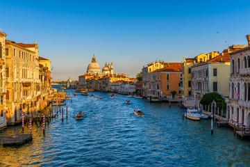 Wall Mural - Grand Canal with Basilica di Santa Maria della Salute in Venice, Italy. View of Venice Grand Canal. Architecture and landmarks of Venice. Venice postcard