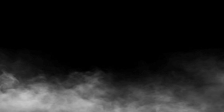 Fog ambient long  black background.