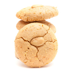soft almond cookies isolated on white