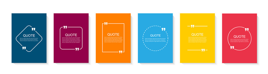 Fototapeta Inspirational quote for your opportunities. Speech bubbles with quote marks. Vector illustration obraz