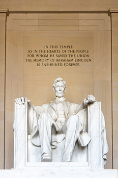 Famous Lincoln Memorial in the National Mall Area of Washington, D.C.