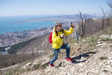 girl in a hike