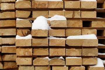 Finished lumber is seen at West Fraser Pacific Inland Resources sawmill in Smithers