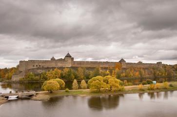 Fortress in Ivangorod. Russia