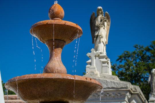 St. Louis Cemetery fountain