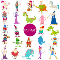 Cartoon Fantasy Characters large set