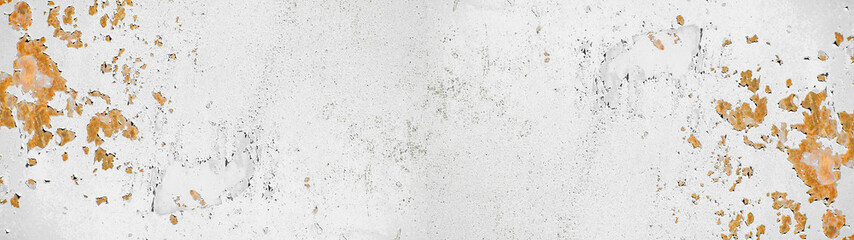 Foto auf AluDibond Metall White light rusty grunge metal texture background banner panorama long