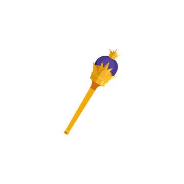 Isolated king scepter vector design