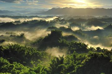 Famous sunrise landscape in Erliao Zuojhen Tainan