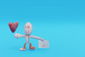 Valentine's Day Children's Drawing Concept