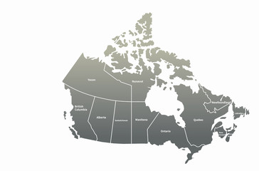 canada map. north america country map.
