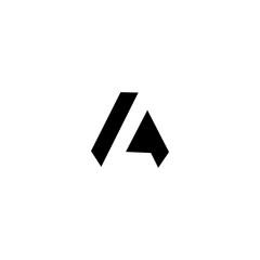 LA L A Letter Logo Design Template