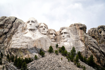 Mount Rushmore National Monument United States Presidents Heads Carved in Stone