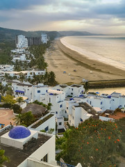 Casa Blanca, Same Ecuador beautiful resort on the beach, aerial shot