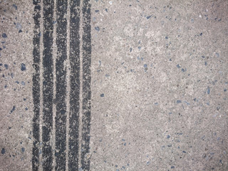 Background of tire marks on road