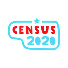 Badge - Census 2020. Vector illustration on white background.