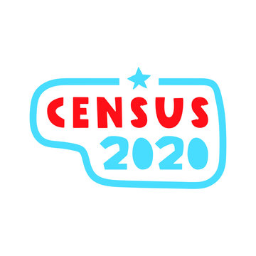 Badge - Census 2020. Vector illustration on white background.
