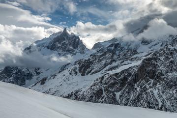 La Meije en hiver , Massif des Ecrins , Hautes-Alpes