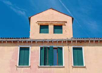Fototapete - Colorful house in Murano island, Venice, Italy.