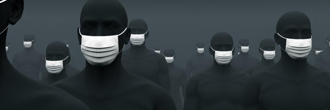マスクが欠かせない人々 2