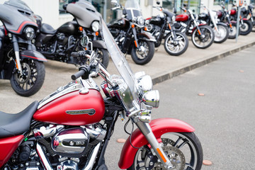 Harley Davidson several motorcycle second-hand shop motorbike dealership store brand