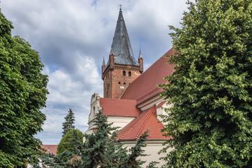 St Mary Magdalene Roman Catholic Church in Czarnkow town located in West Pomerania region of Poland