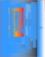 Poster Echelle de hauteur abstract background with lines