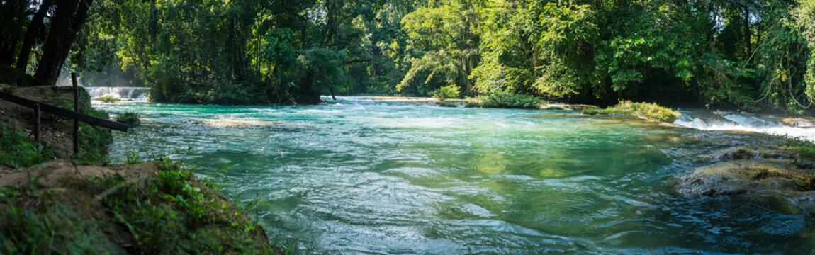 Blue River Agua Azul in Mexico