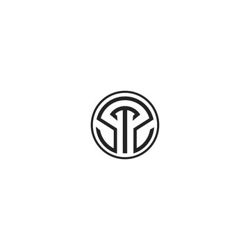 SS STS logo initial letter design template