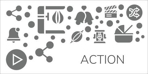 action icon set