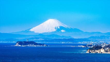 富士山と湘南海岸