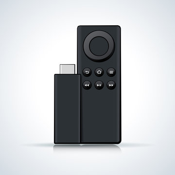 Vector llustration of remote control on white background