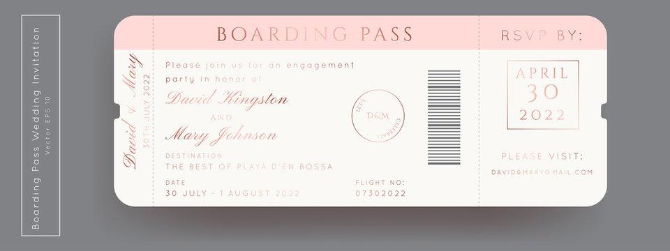 Destination Wedding Pass Vector