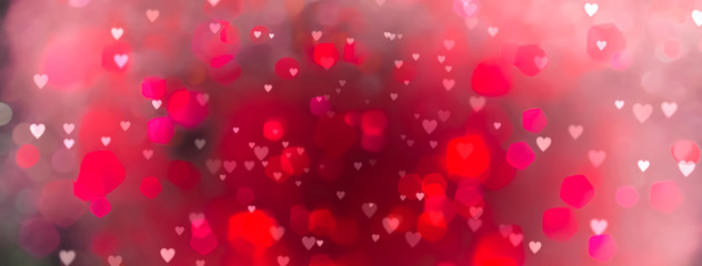 Fototapete - Abstract colorful background with hearts - concept Mother's Day, Valentine's Day, Birthday , Love