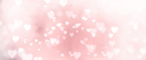 Abstract pastel background with many hearts - concept Mother's Day, Valentine's Day, Birthday -...