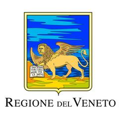 Veneto official regional coat of arms, Italy, vector illustration