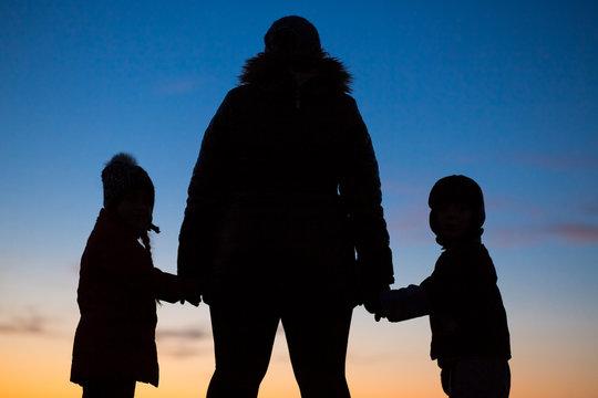single mom with teo kids
