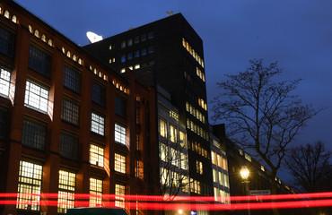 The building of Germany's international broadcaster Deutsche Welle is pictured in Berlin