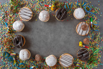 Carnival decoration with donuts