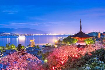 Fototapete - Miyajima Island, Hiroshima, Japan in Spring