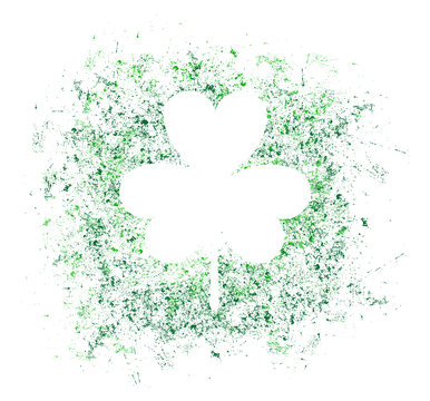 St. Patrick day vector background with clover. Irish holiday Saint Patrick Day.