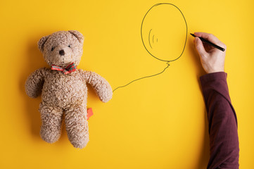 Conceptual image of child safety and adoption