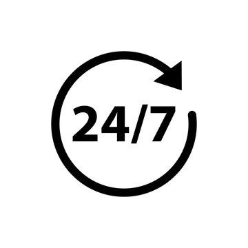 24/7 Service Care Icon Vector Logo Template EPS 10
