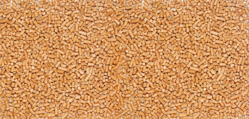 Background with wood pellets cats litter