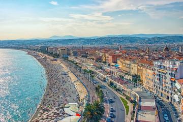 Fototapete - City of Nice in summer
